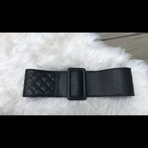 "Emporio Armani 3"" Quilted Leather waist Belt"